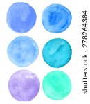 colorful watercolor stain... | Shutterstock .eps vector #278264384