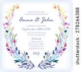 wedding invitation design...   Shutterstock .eps vector #278266388