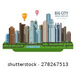 big city vector logo design... | Shutterstock .eps vector #278267513