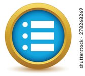 gold ordinal list icon on a...