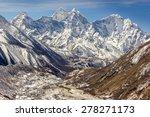 Mountain Range In Sagarmatha...