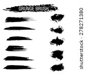 vector set of grunge brush...   Shutterstock .eps vector #278271380