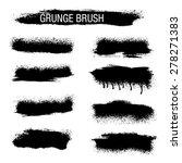vector set of grunge brush... | Shutterstock .eps vector #278271383