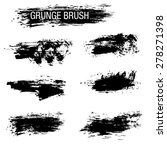 vector set of grunge brush... | Shutterstock .eps vector #278271398