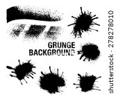 set of black ink vector stains | Shutterstock .eps vector #278278010