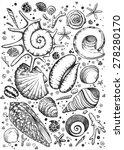 zentangl  graphics  shells | Shutterstock . vector #278280170