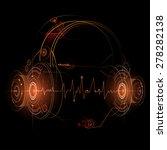 headphone futuristic... | Shutterstock .eps vector #278282138