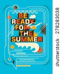 abstract summer poster design.... | Shutterstock .eps vector #278283038