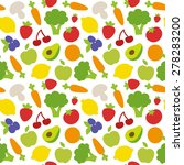 seamless colorful pattern of... | Shutterstock .eps vector #278283200