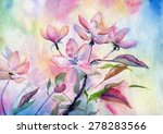 flowers  watercolor  artist | Shutterstock . vector #278283566