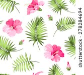 tropical seamless pattern. palm ... | Shutterstock .eps vector #278284694