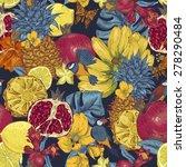 vintage seamless background ... | Shutterstock .eps vector #278290484
