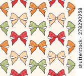 cute  seamless pattern with... | Shutterstock .eps vector #278290958