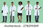 black or african doctors... | Shutterstock .eps vector #278294309