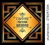 wedding invitation design ... | Shutterstock .eps vector #278297204
