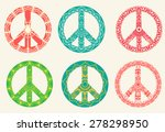 hippie style. ornamental... | Shutterstock .eps vector #278298950