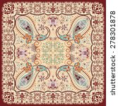 Paisley Floral Scarf Design