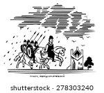 digital engraving   black and... | Shutterstock .eps vector #278303240