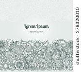 henna flowers mehndi design... | Shutterstock .eps vector #278320010