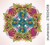 ornate vibrante rosette | Shutterstock .eps vector #278324258