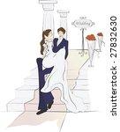 wedding story   Shutterstock .eps vector #27832630