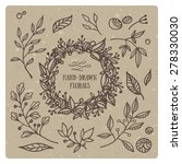 hand drawn set of floral...   Shutterstock .eps vector #278330030