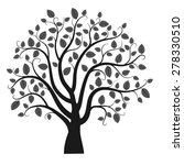 tree silhouette isolated on... | Shutterstock .eps vector #278330510