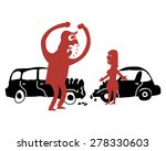 big man scolding woman after... | Shutterstock .eps vector #278330603