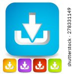 download symbol cut in rounded...