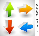 arrow icons pointing up  down ...   Shutterstock .eps vector #278331968
