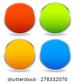 colorful circle shape set with... | Shutterstock .eps vector #278332070
