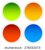 colorful circle shape set with... | Shutterstock .eps vector #278332073