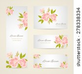 invitation card with floral... | Shutterstock .eps vector #278338334