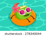 illustration of coconut drink... | Shutterstock .eps vector #278340044