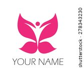 vector sign spa  yoga and relax | Shutterstock .eps vector #278343230