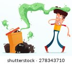 young man get annoyed because... | Shutterstock .eps vector #278343710