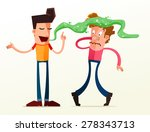young man get annoyed because...   Shutterstock .eps vector #278343713