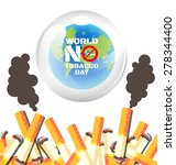 world no tobacco day poster for ... | Shutterstock .eps vector #278344400