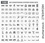 100 Air Conditioning Icons Sets.