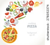 cooking pizza collection...   Shutterstock .eps vector #278352374