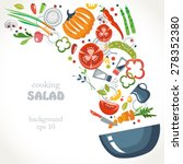 cooking collection background... | Shutterstock .eps vector #278352380