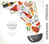 cooking marinade grill... | Shutterstock .eps vector #278352410