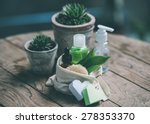 cosmetic bottle containers with ...   Shutterstock . vector #278353370