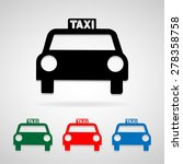 taxi icons set great for any... | Shutterstock .eps vector #278358758