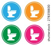 toilet icon great for any use.... | Shutterstock .eps vector #278358830