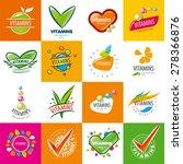 large set of vector logos... | Shutterstock .eps vector #278366876