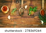 spices and herbs on wooden... | Shutterstock . vector #278369264