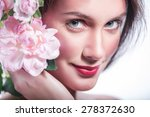 closeup portrait of beautiful... | Shutterstock . vector #278372630