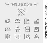 real estate thin line icon set... | Shutterstock .eps vector #278373404