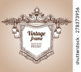 hand drawing vintage baroque... | Shutterstock .eps vector #278373956